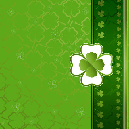 three and four leaf clover background