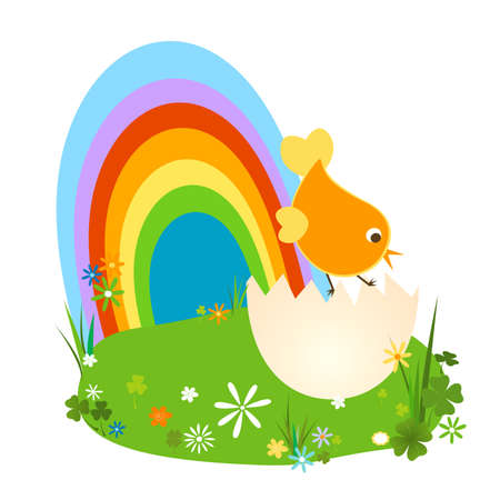 new born chiken at easter time Stock Photo - 6267749