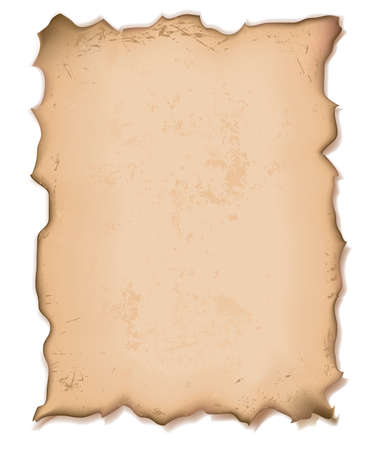 discolored: illustration of an old torn paper with grainy texture Stock Photo