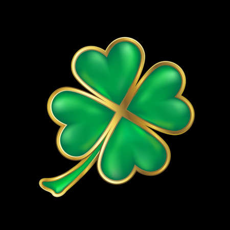 clover leaf shape: clover design with gold border