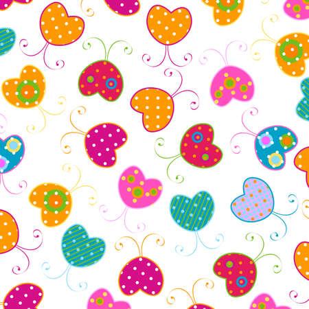 sweet butterflies pattern Stock Photo - 6445029