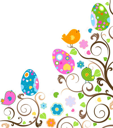happy easter: easter tree Illustration