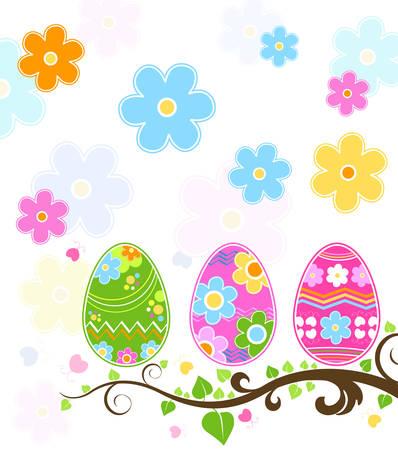 pollitos: huevos de Pascua  Vectores