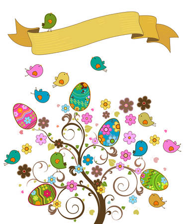 easter tree Illustration