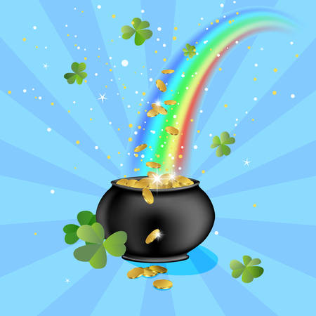 pot with gold coins Stock Vector - 6570347