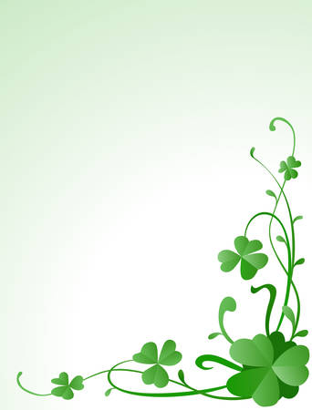 three leaves: three leaves clovers  Illustration