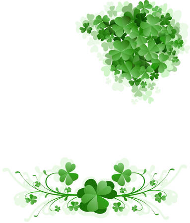 clover leaf shape: St. Patrick`s Day background Illustration
