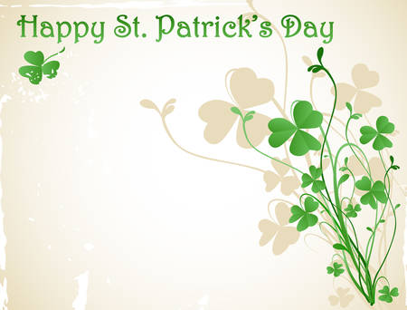 st patrick`s day card Vector