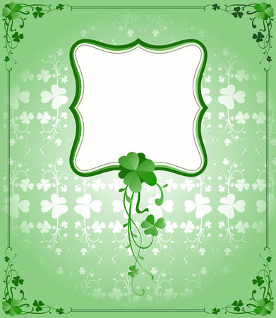 vintage style St. Patrick`s Day frame  Stock Vector - 6570351