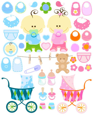 baby stuff collection Vector