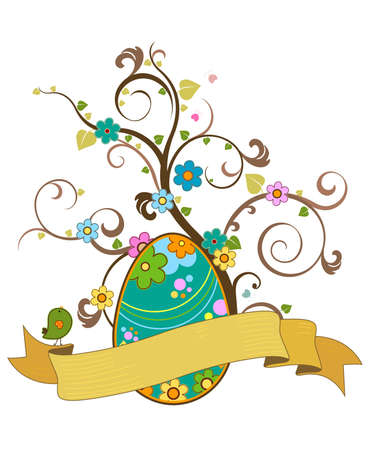 easter design with scroll photo