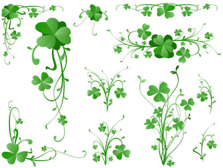 lucky clover lucky: three leaves clover design elements