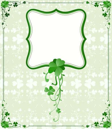 vintage style St. Patrick`s Day frame