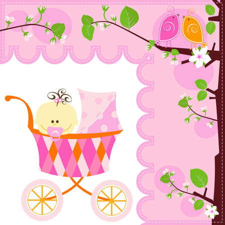 baby carriage: sweet baby girl
