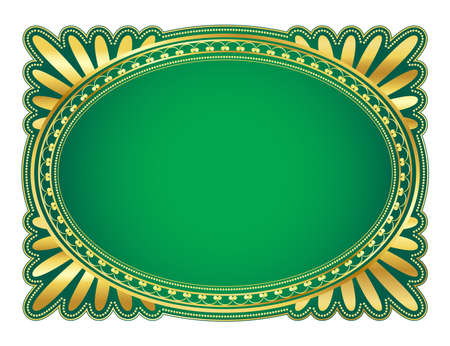 elegant oval frame with decorative filigree; illustration Stock Illustration - 6663835