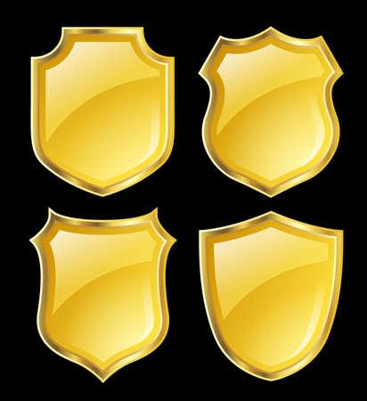 shielding: shield design set Stock Photo