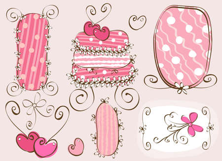 Doodles fotogrammi e torta