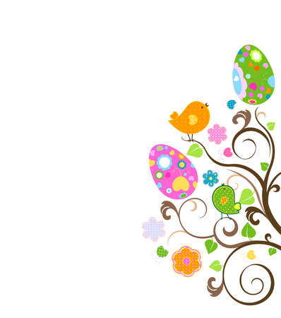 chick: easter tree Stock Photo