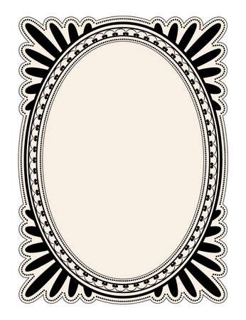 elegant oval frame with decorative filigree; illustration Stock Illustration - 6675855