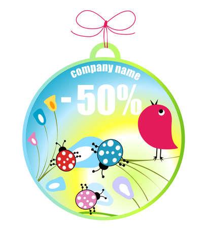 bugs shopping: ventas de primavera, dise�o del concepto de compras  Foto de archivo