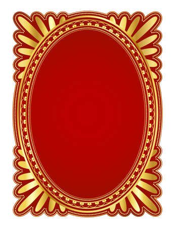 elegant oval frame with decorative filigree; illustration illustration
