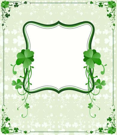 vintage style St. Patrick`s Day frame  photo