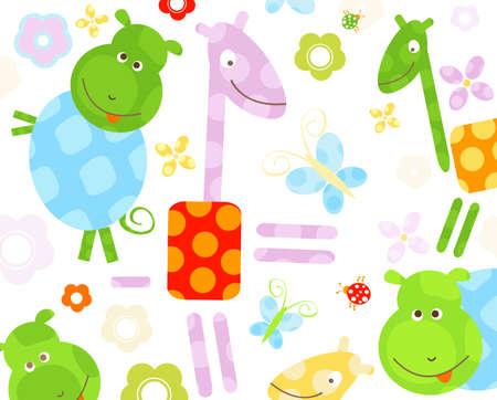 cute little animals background photo