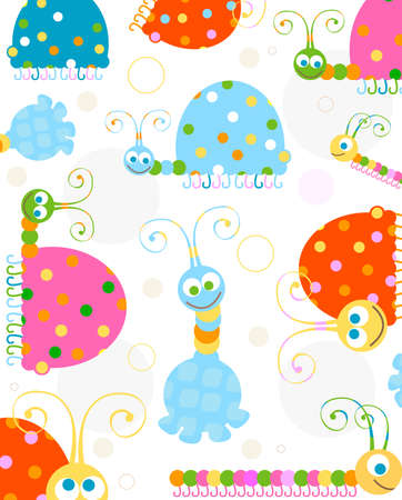 smiling insects background photo