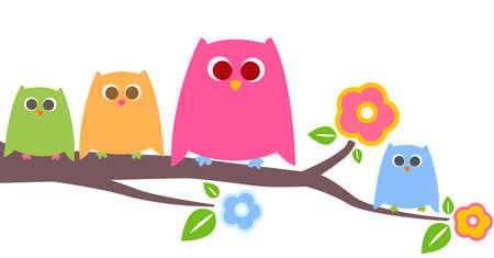 cute owls Stock Photo - 8347683