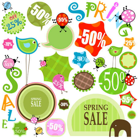 spring sale, various shapes and colors photo