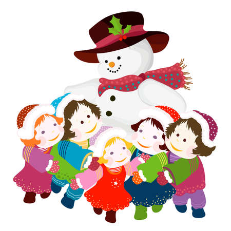 merrytime:  snowman and kids