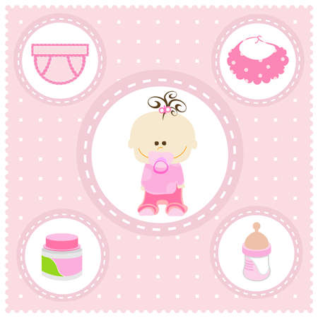 sweet baby girl: dulce ni�a Foto de archivo
