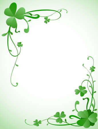 background design for St. Patricks Day with three leaves clovers  photo