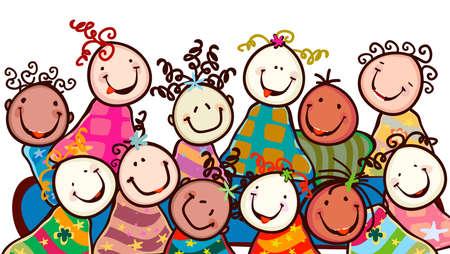 vivero: felices los ni�os con caras sonrientes