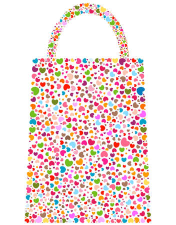 spring love flowers on bag shape Stock Photo - 12428642