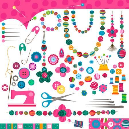 colliers: coudre ensemble artisanat