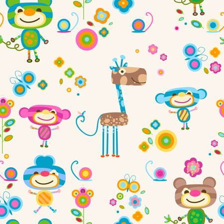 animals seamless  background Vector