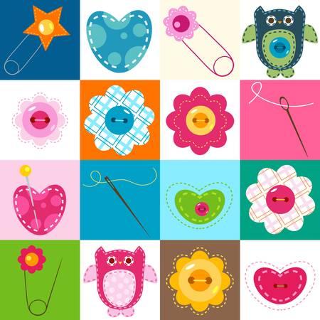 fondo para bebe: los elementos de fondo de coser; cuco para los beb�s