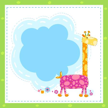 invitation card with giraffe Vector