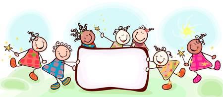 kinder: grupo de ni�os felices