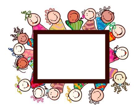 happy kids Stock Vector - 12659615