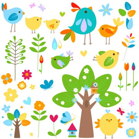 spring elements set Vector