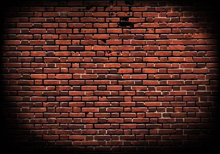 brickwork: aged brick wall texture; illustration Illustration
