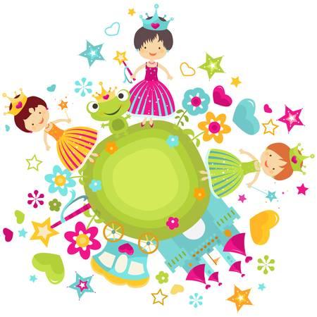 prinzessin: kleine Prinzessin für Mädchen gesetzt