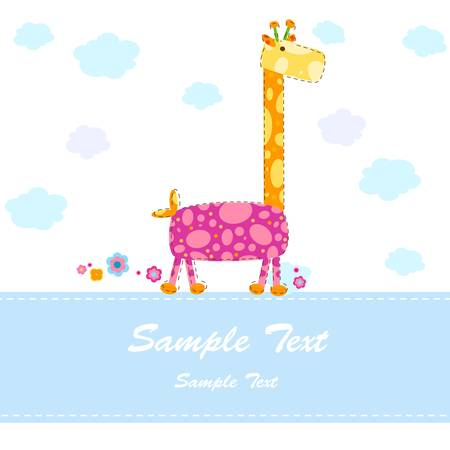 baby arrival announcement card Stock Vector - 17438513