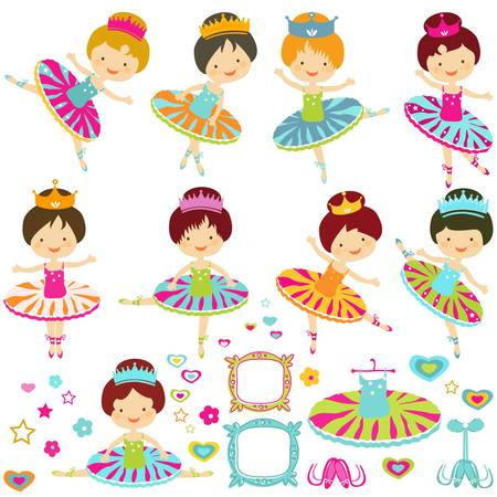 little ballerina set Vector
