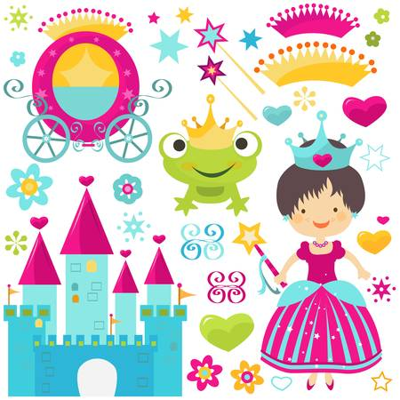 little princess set for girls Vector