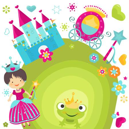 little princess and her castle Vector
