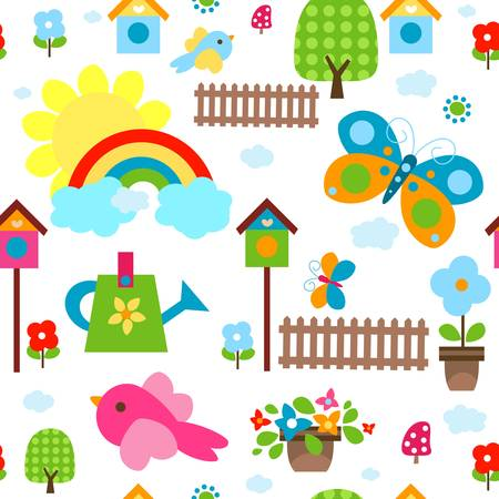 colorful seamless background for kids Stock Vector - 17438495