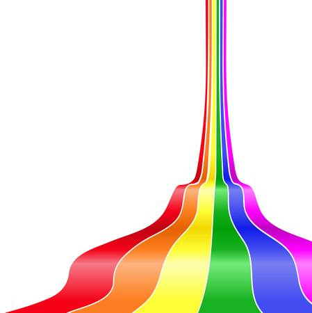 rainbow stripe: winding stripes in rainbow color